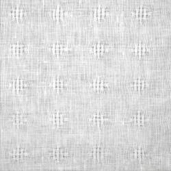Halvlin, hvit  myggshell 150cm