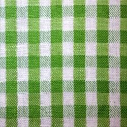 Halvlin, grønn/crem 150cm pr.m
