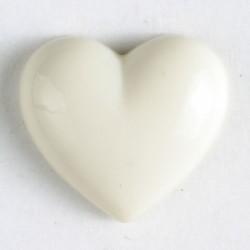 Barneknapp, 11mm hjerte,creme