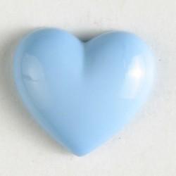 Barneknapp, 11mm hjerte,l.blå