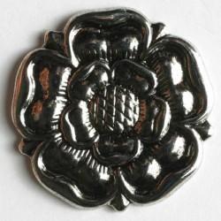 Trondhjemsrose, 15mm sølv