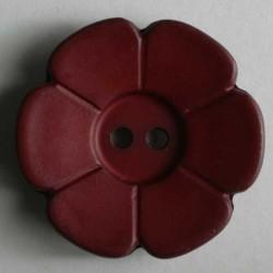 6napp, 28mm blomst, rød
